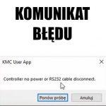 "Komunikat błędu programu ""Controller no power or R232 cable dosconnect"""